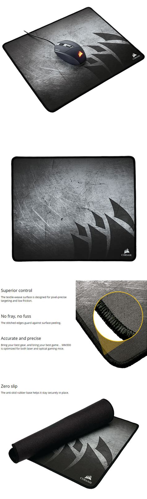 Mouse Pad Gaming Corsair Mm300 Anti Fray Cloth Small Edition corsair mm300 mouse pad best deal south africa