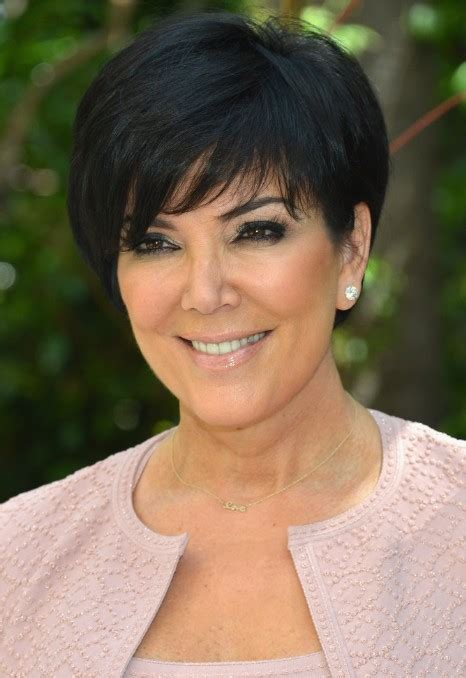 chris jenner hairstyles 2014 kris jenner short black haircut with side swept bangs