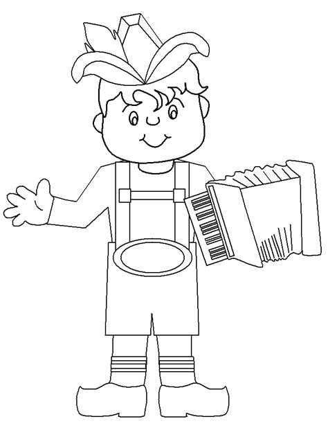Lederhosen Germany Coloring Pages Coloring Book Germany Coloring Page