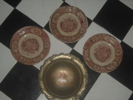 Barang Antik Dinasti Ming jual piring keramik dinasti ming warna merah harga murah