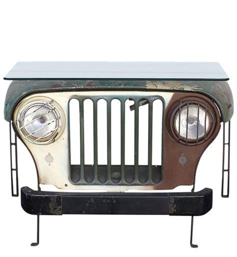 Jeep Desk Vintage Jeep Desk W Sleek Glass Top Tables