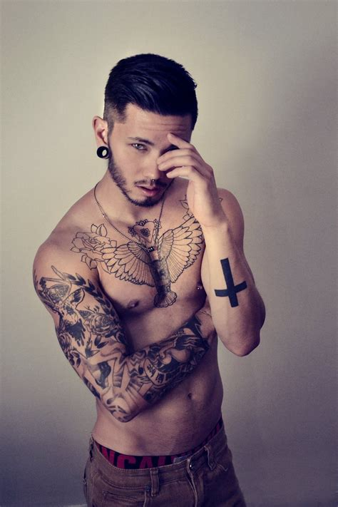 hot tattoo artist male i want that type of cross tattoo pinterest tattoo