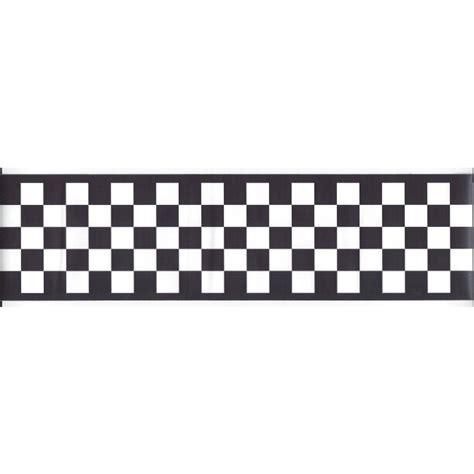 wallpaper border black and white check 3 75 quot black white check peel and stick wallpaper border