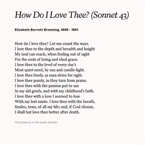 """How Do I Love Thee?"" by Elizabeth Barrett Browning. Read"