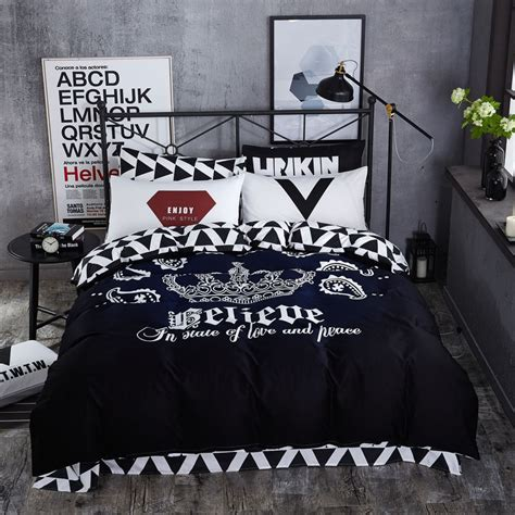 Aliexpress Com Buy Black And White Fashion Brand Cool Cool Bedding