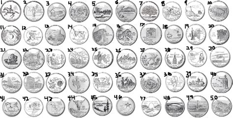 printable state quarter list state quarters list printable pictures to pin on pinterest