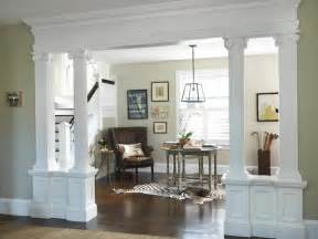 Dining Room Entrance With Columns Living Room To Lobby Traditional Entry Providence