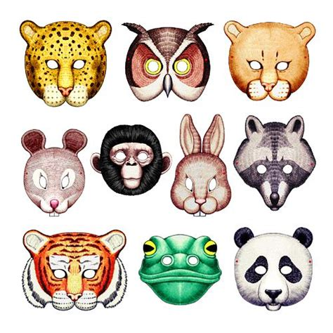 printable endangered animal masks image detail for printable animal masks from