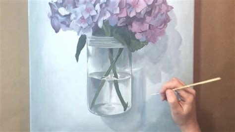 watercolor hydrangea tutorial tutorial on making acrylic painting quot hydrangea quot youtube