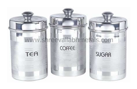 Silver Kitchen Canisters by Silver Kitchen Canisters Steel Canister Set 3pc