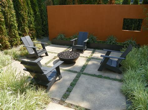 Natural Gas Fire Pit Landscape Contemporary With Concrete Modern Pit