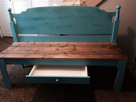 teal bench 17 best images about headboard bench on pinterest green chevy and home