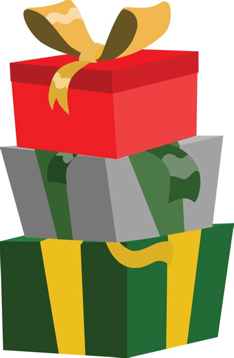 pony christmas presents credit free vector by