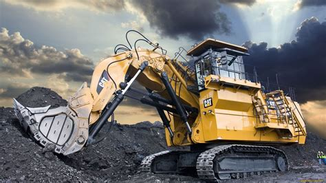 cat excavator wallpaper caterpillar mining excavator machinery pinterest