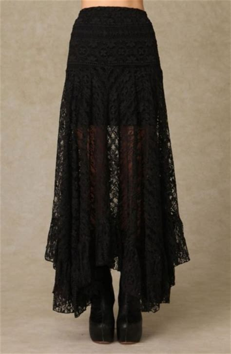 Dress Navycie skirt black laces maxi skirt black skirt lace