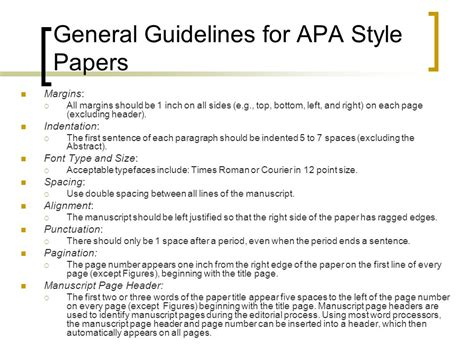Guidelines In Research Paper - writing an apa style research paper ppt