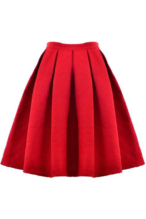 fashion structured pleated skirt oasap