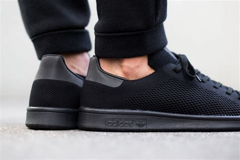 adidas triple black adidas stan smith primeknit triple black sneaker bar detroit