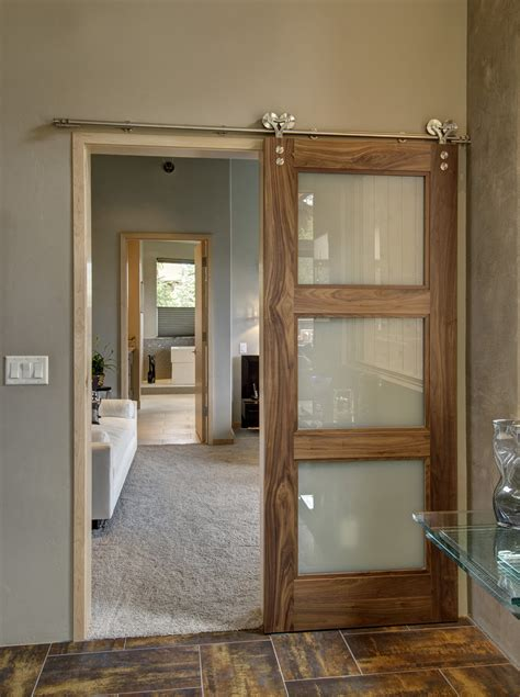Barn Door Style Interior Doors Barn Doors Sliding Barn Doors Can Even Be Flush Doors With Clean Simple Lines Door