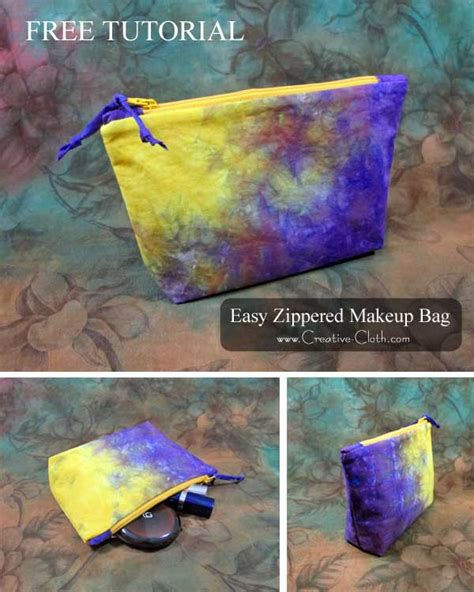 free sewing pattern zippered pouch easy zippered laminated makeup bag free sewing tutorial