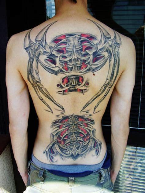 amazing back tattoos 84 amazing biomechanical tattoos on back
