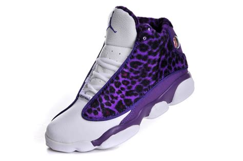 purple jordans shoes nike air 13 shoes s leopard print