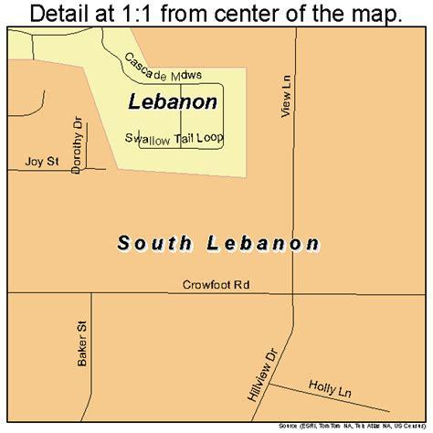 map of oregon lebanon south lebanon oregon map 4168875