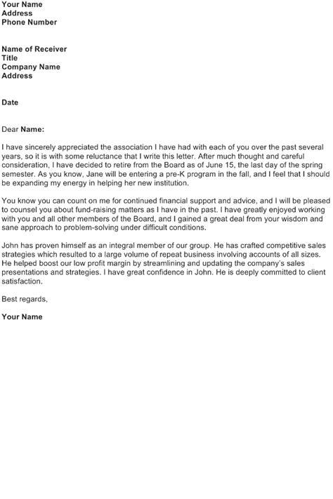 retirement letter sample download free business letter