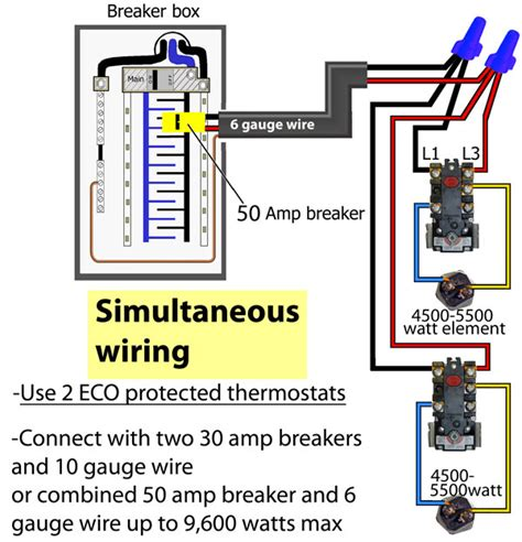 wiring diagram dual element electric water heater wiring
