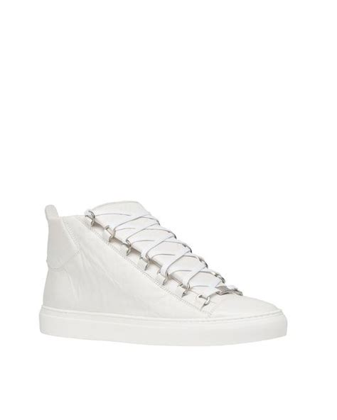 balenciaga arena high top sneakers white size 13 in white for white lyst