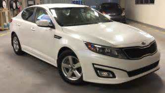 Kia White 2015 Kia Optima Lx Snow White Pearl Bluetooth