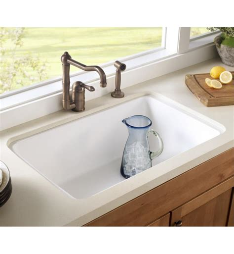 allia fireclay single bowl undermount kitchen sink rohl 6307 63 allia 31 5 8 quot single bowl undermount fireclay