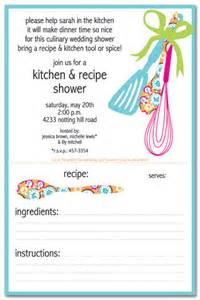 kitchen shower invitations with recipe card festival tech