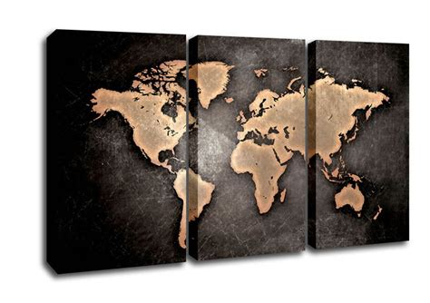 world cities map canvas grunge world map maps 3 panel canvas 3 panel set canvas