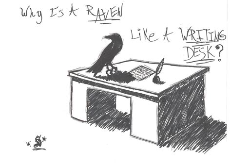 why is a raven like a writing desk tattoo a like a writing desk by sierra1223 on deviantart