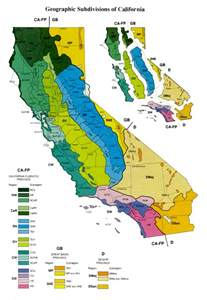 geographic subdivisions in california map california