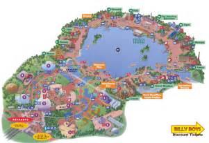 map of epcot florida orlando florida area maps