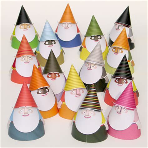 Printable Paper Gnomes | make some paper gnomes how about orange