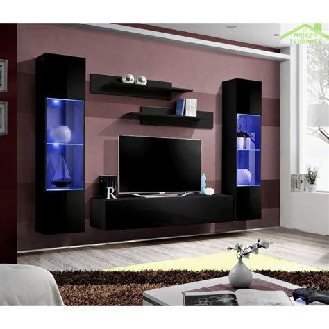 ensemble meuble tv mural fly a avec led