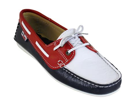 white blue leather boat shoes 3 only white blue