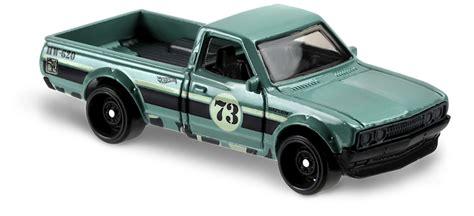 Hotwheels Datsun Green datsun 620 in green hw trucks car collector wheels