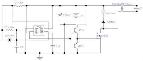 transistor based flyback driver transistor based flyback driver 28 images 555 timer based flyback transformer driver 171 diy
