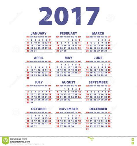 Calendario Por Semana Calendario 2017 Para Imprimir Por Mes