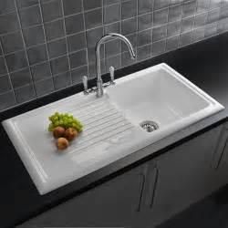 reginox 1 0 bowl white ceramic kitchen sink waste amp tap pack
