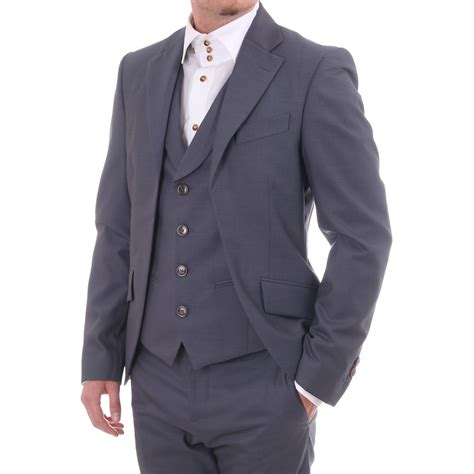 vivienne westwood jacket with attached waistcoat blue