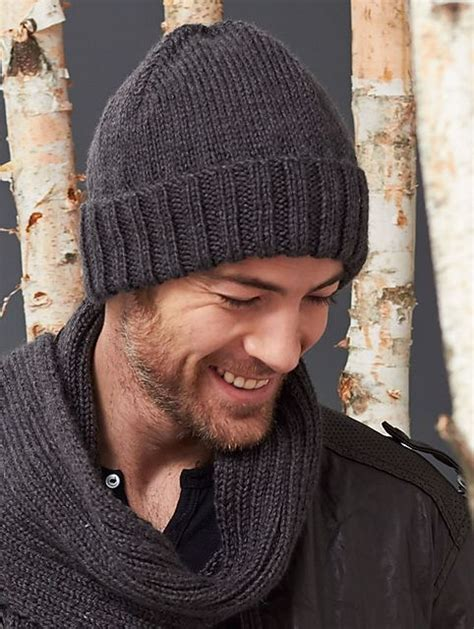 knitting pattern for mens scarf and hat men s basic hat and scarf set free pattern scarves and