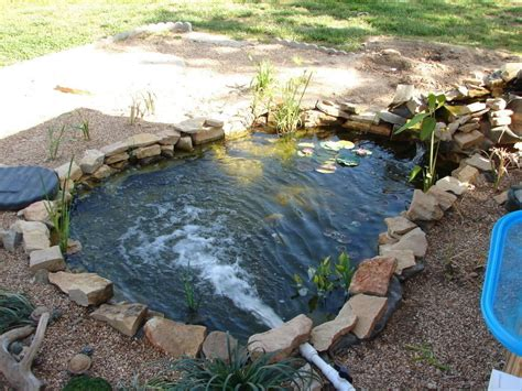 how to make a fish pond in your backyard triyae com build a backyard pond and waterfall various