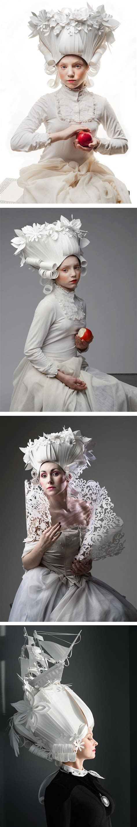 Blumen Aus Papier 3634 by Asya Kozina Constructs Elaborate Baroque Wigs Out Of Paper
