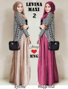Dress Batik Levina gamis modern levina 2 g97a koleksi baju muslimah bahan