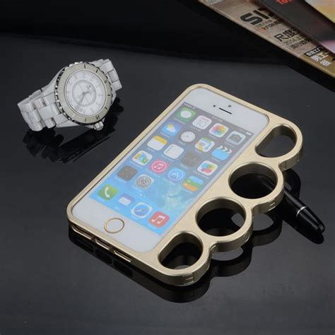 Iphone 6 6s Original Metal Shell Of Cool Metal Thor Cover Casing cool portable finger rings metal knuckle frame for iphone 6 6s 6 plus 5s 5